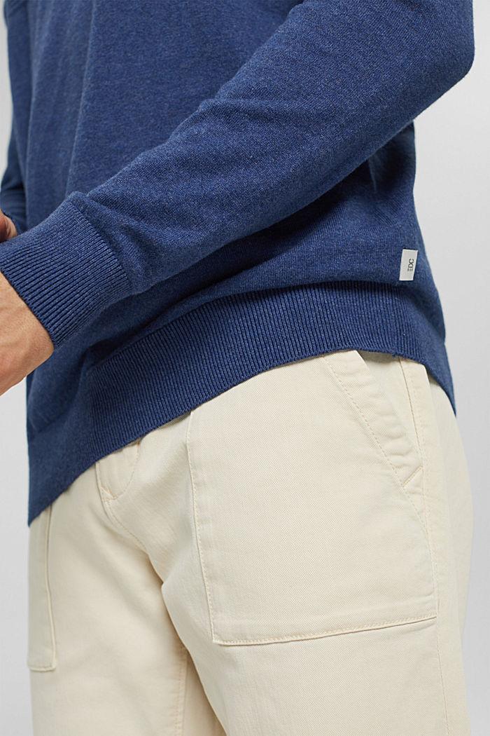 Mit Kaschmir: Pullover mit Tunnelkragen, GREY BLUE, detail image number 6