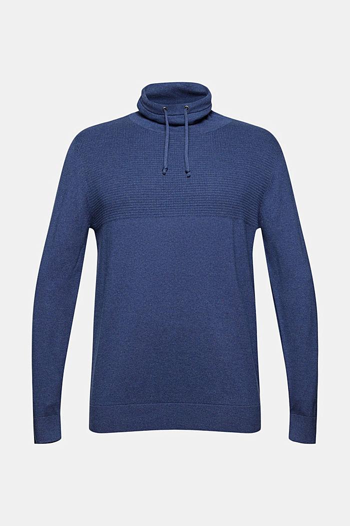 S kašmírem: pulovr s límcem opatřeným tunýlkem