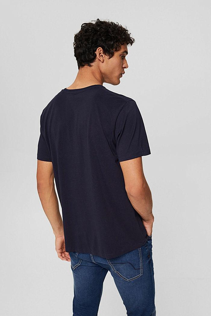 Jersey T-shirt met print, biologisch katoen, NAVY, detail image number 3