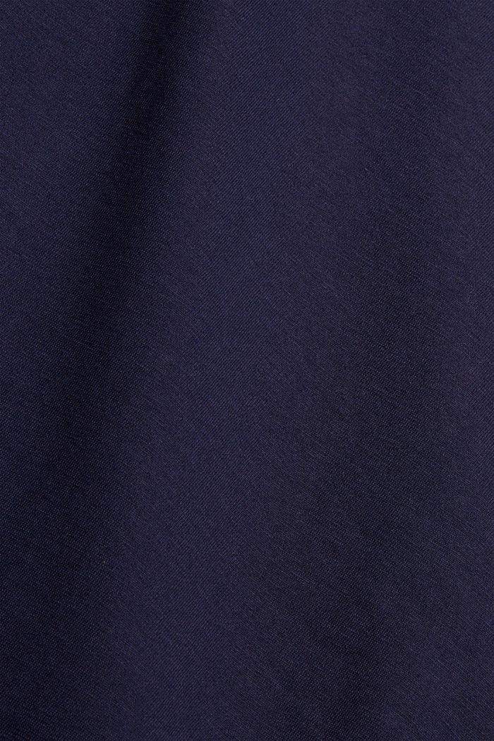 Jersey T-shirt met print, biologisch katoen, NAVY, detail image number 5