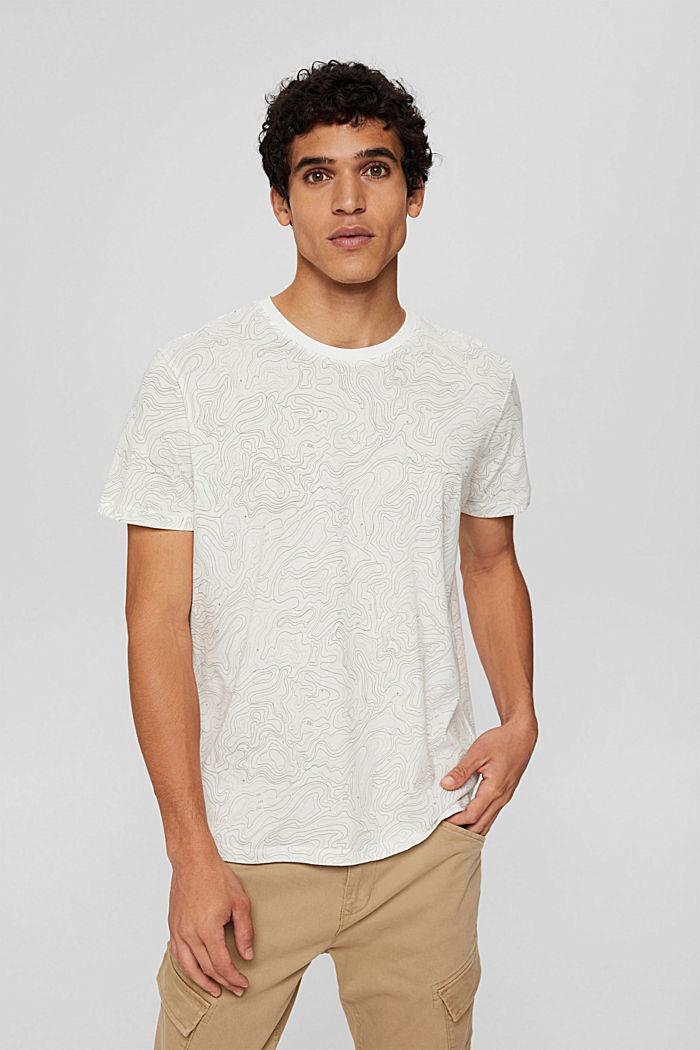 Jersey-T-Shirt mit Print, Organic Cotton, OFF WHITE, detail image number 0