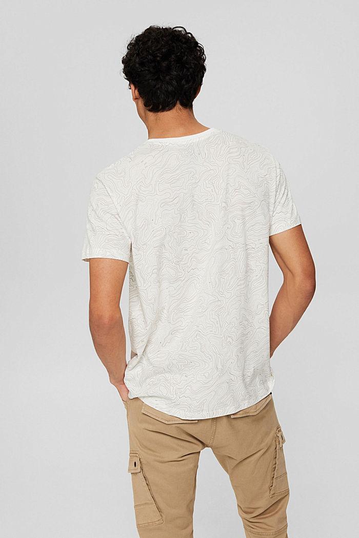 Jersey-T-Shirt mit Print, Organic Cotton, OFF WHITE, detail image number 3