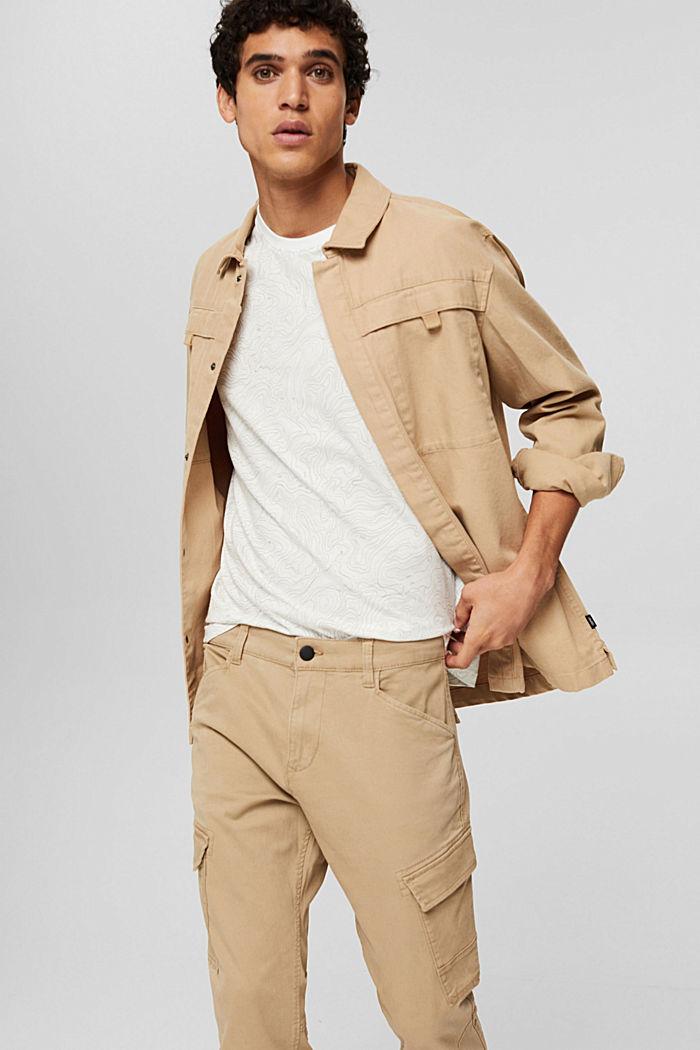 Jersey-T-Shirt mit Print, Organic Cotton, OFF WHITE, detail image number 4