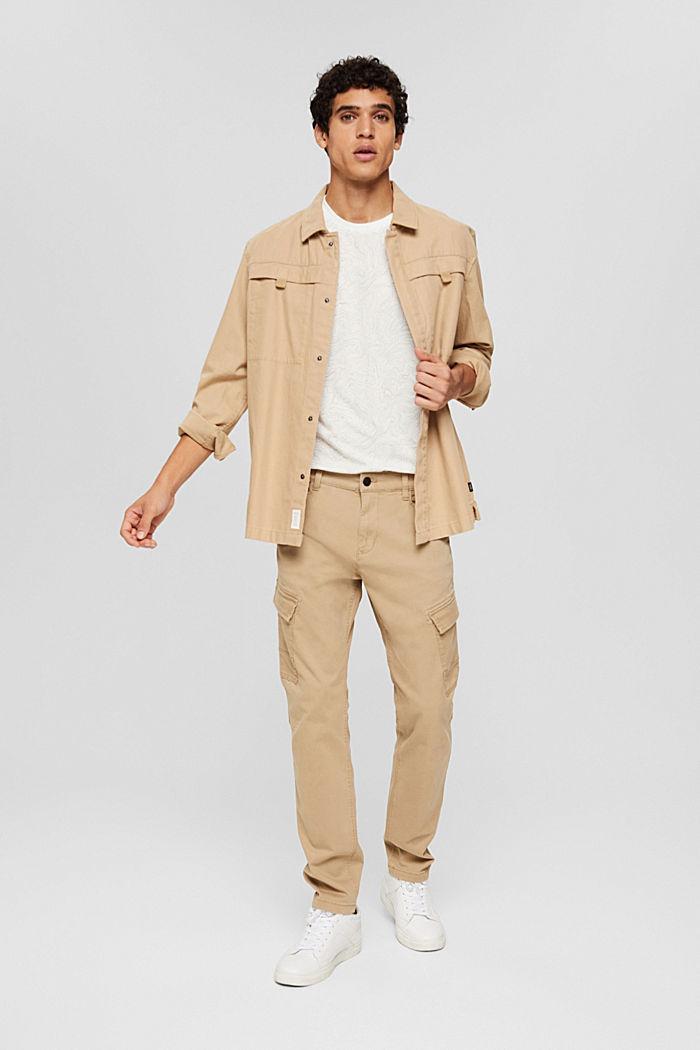 Jersey-T-Shirt mit Print, Organic Cotton, OFF WHITE, detail image number 2