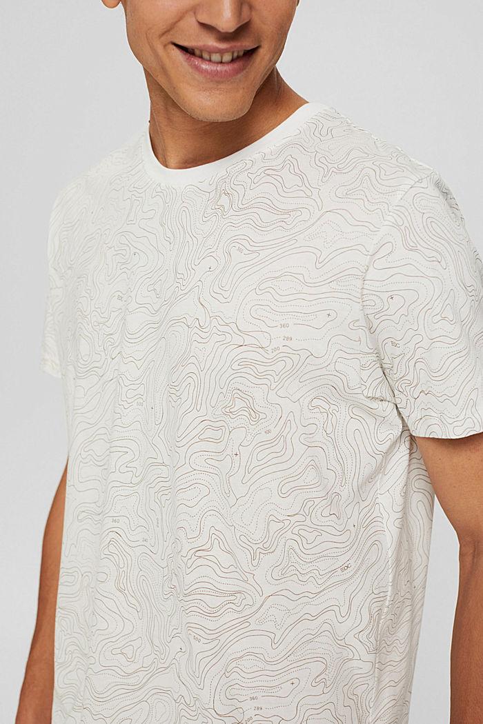 Jersey-T-Shirt mit Print, Organic Cotton, OFF WHITE, detail image number 1