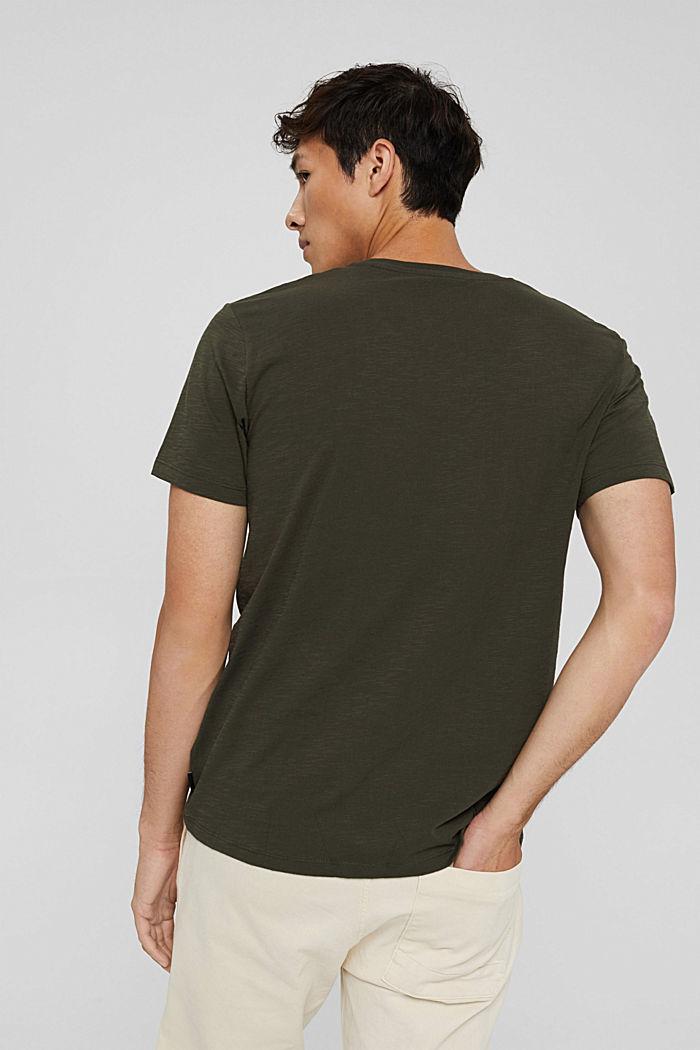 Jersey T-shirt with a print, organic cotton, DARK KHAKI, detail image number 3
