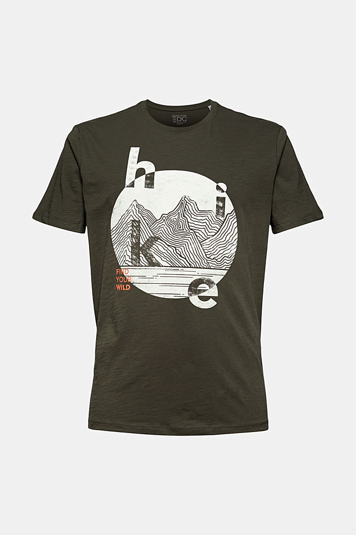 Jersey T-shirt with a print, organic cotton