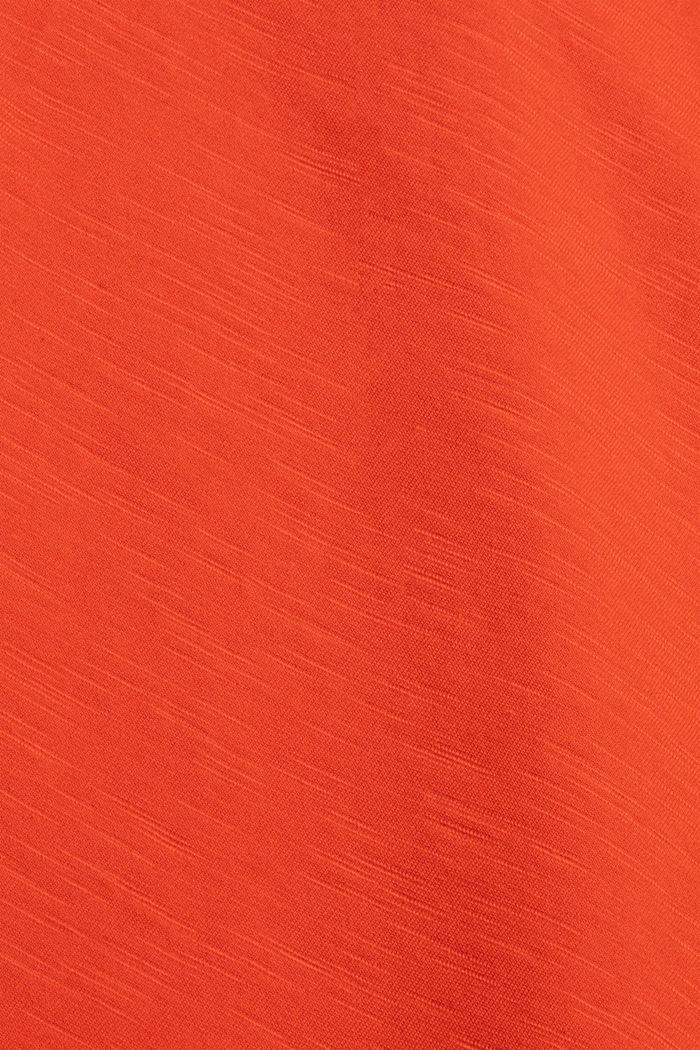 Jersey T-shirt met print, biologisch katoen, ORANGE, detail image number 4