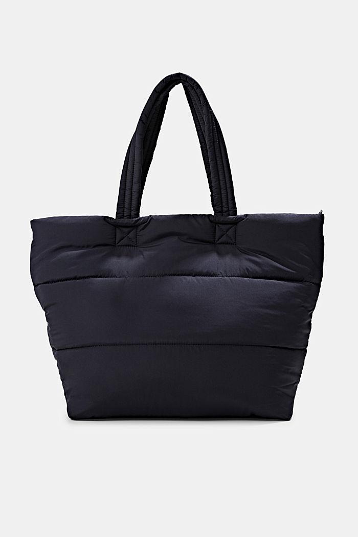 Gerecycled: shopper met een gewatteerde look, NAVY, detail image number 0