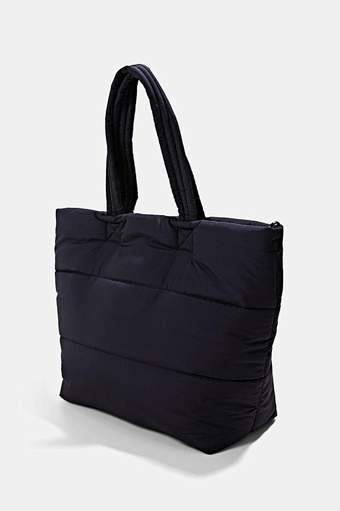 Gerecycled: shopper met een gewatteerde look, NAVY, detail image number 2