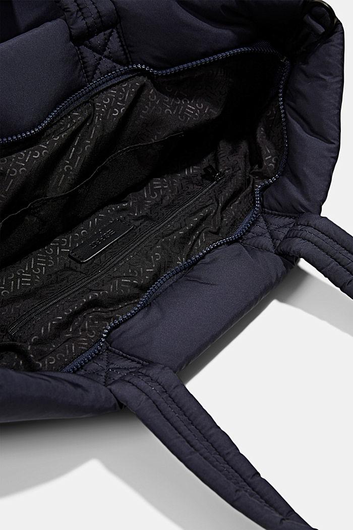 Gerecycled: shopper met een gewatteerde look, NAVY, detail image number 4