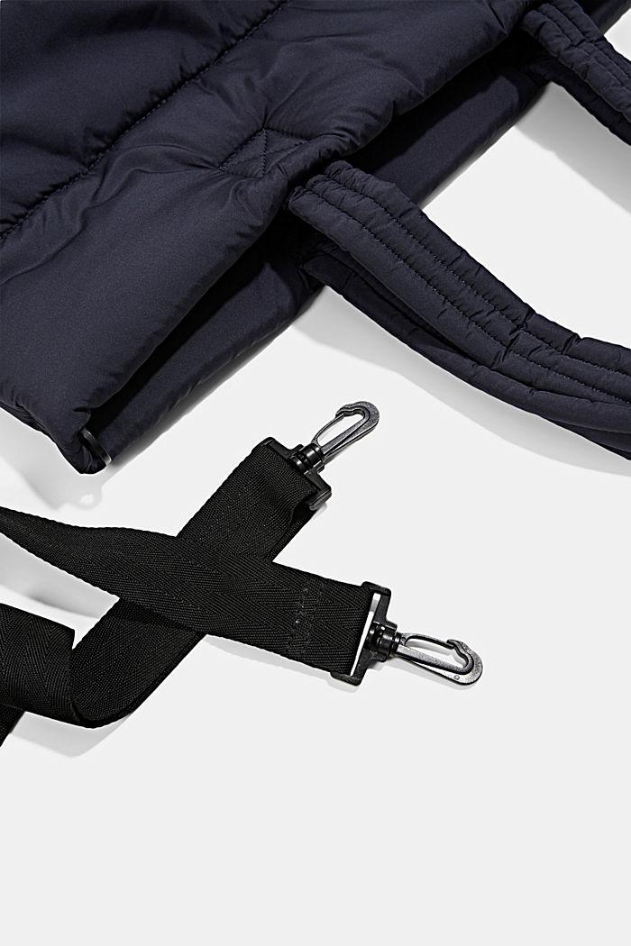 Gerecycled: shopper met een gewatteerde look, NAVY, detail image number 3