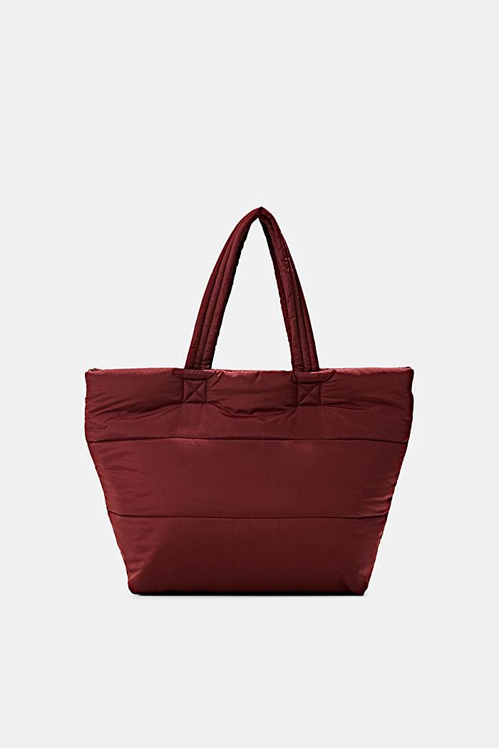 In materiale riciclato: borsa shopper effetto imbottito
