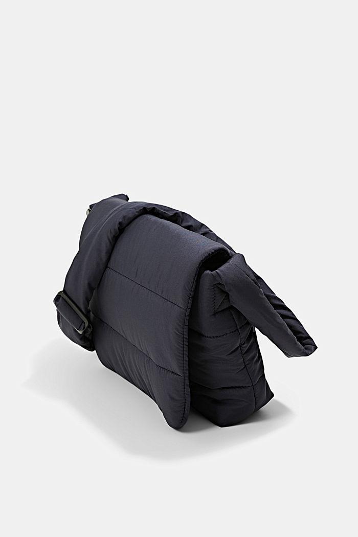 Recycelt: gesteppte Puffer-Tasche, NAVY, detail image number 2