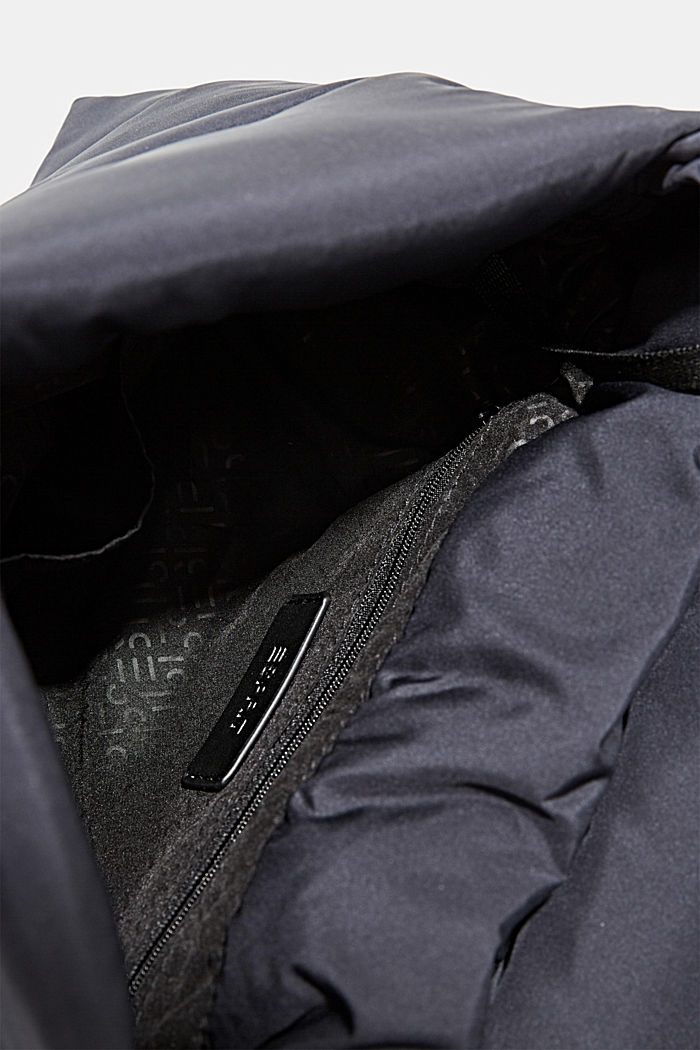 Recycelt: gesteppte Puffer-Tasche, NAVY, detail image number 4