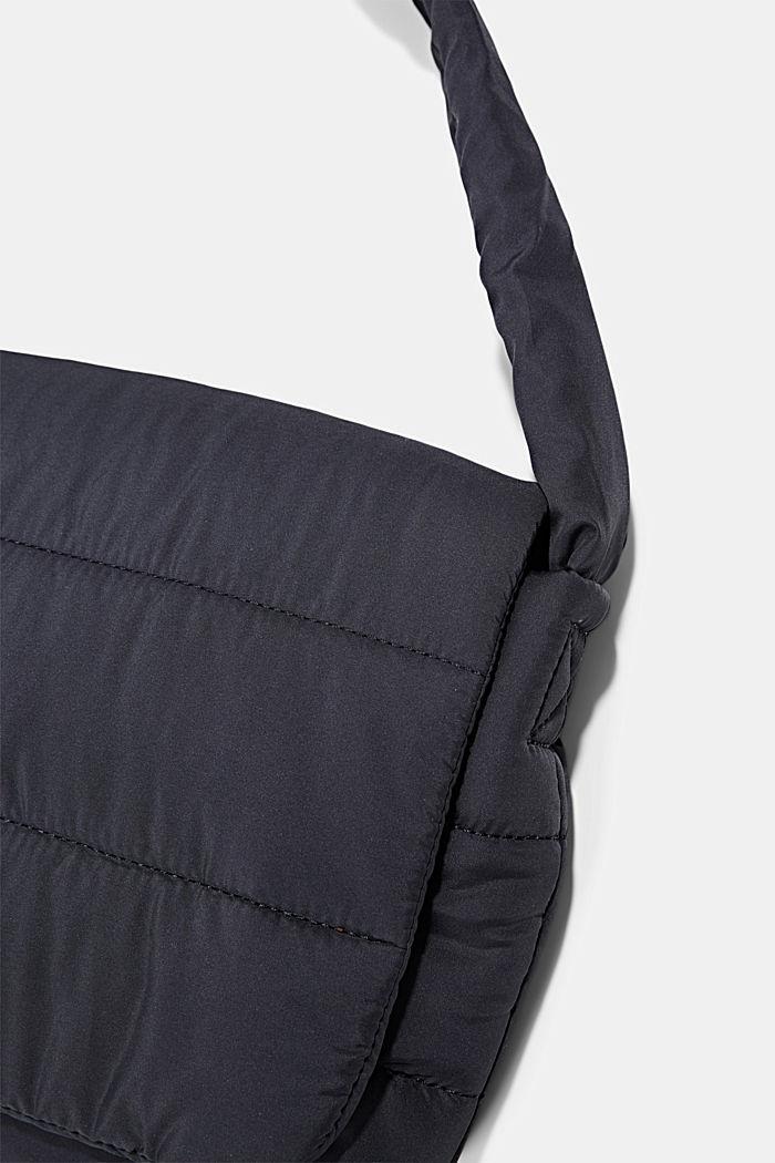 Recycelt: gesteppte Puffer-Tasche, NAVY, detail image number 3