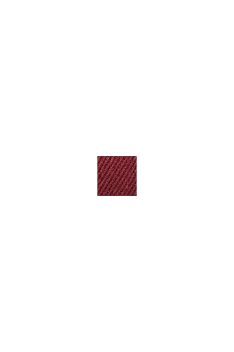 Casquette de baseball en 100% coton, BORDEAUX RED, swatch