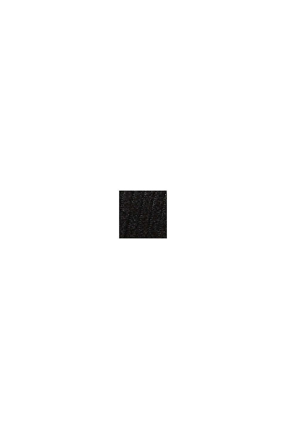 Casquette de base-ball ornée d'un patch en velours côtelé, BLACK, swatch