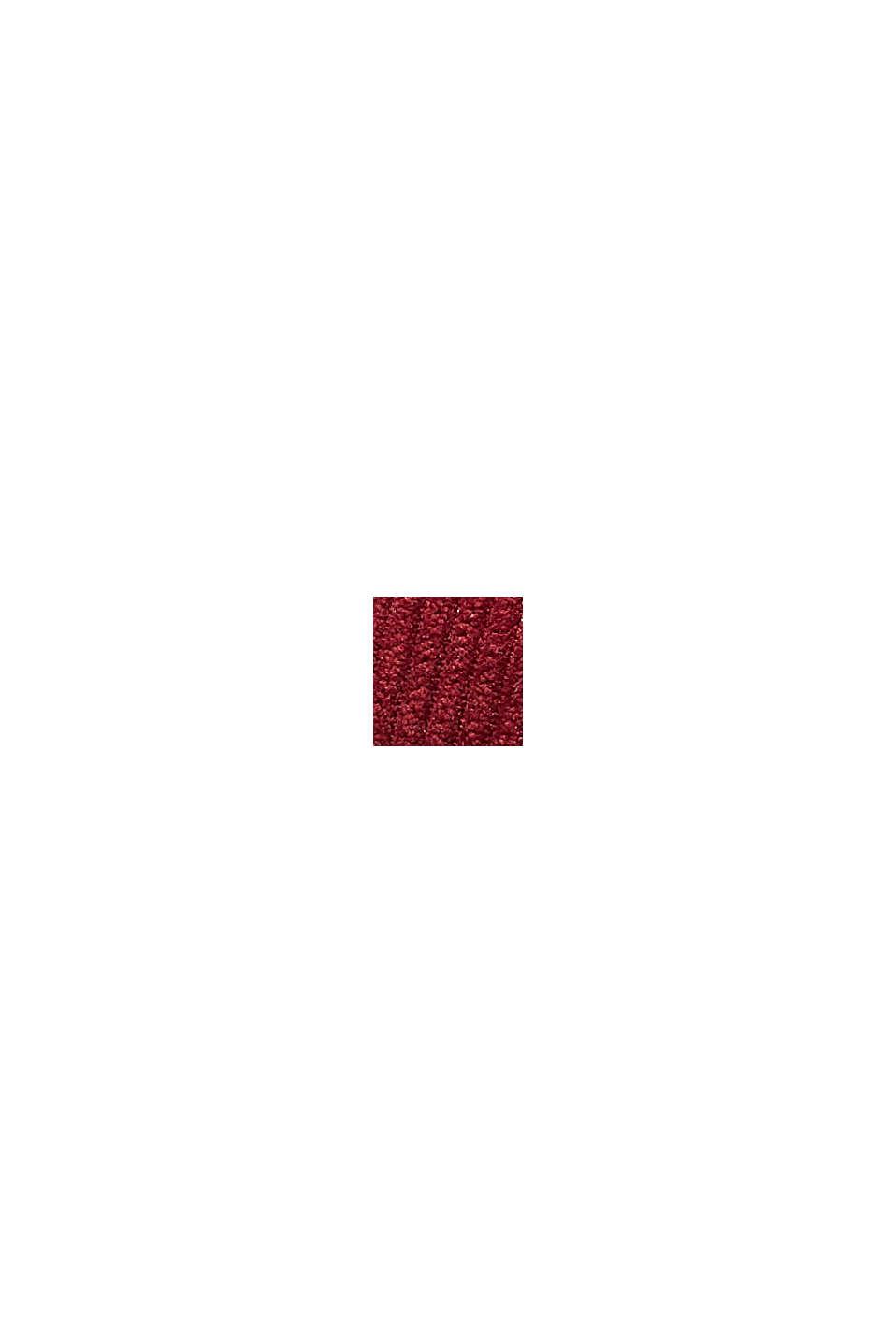 Casquette de base-ball ornée d'un patch en velours côtelé, BORDEAUX RED, swatch