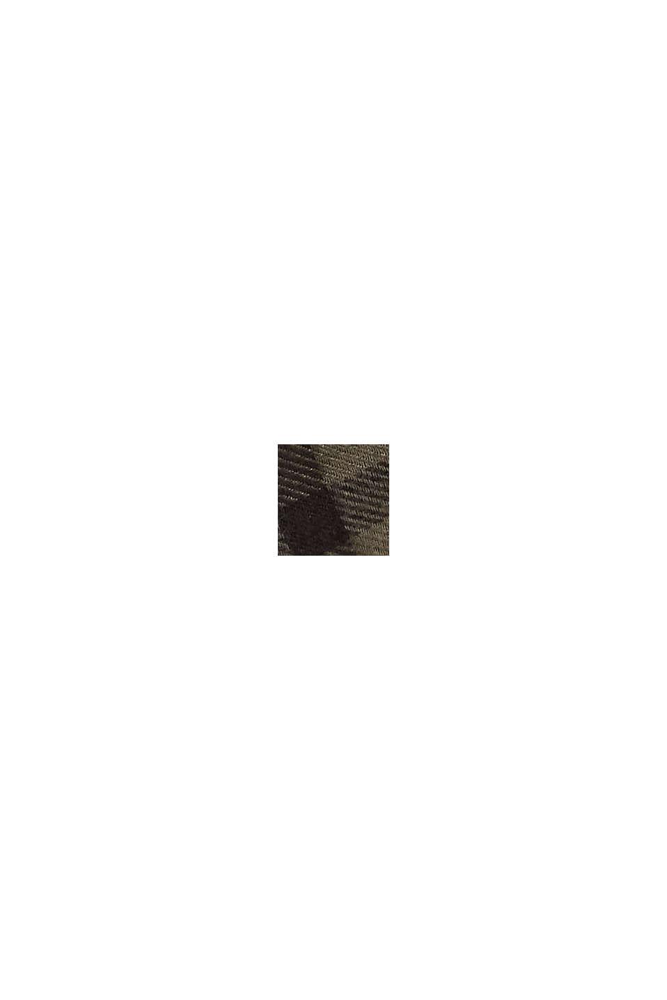 Écharpe tissée à carreaux, LENZING™ ECOVERO™, DARK KHAKI, swatch