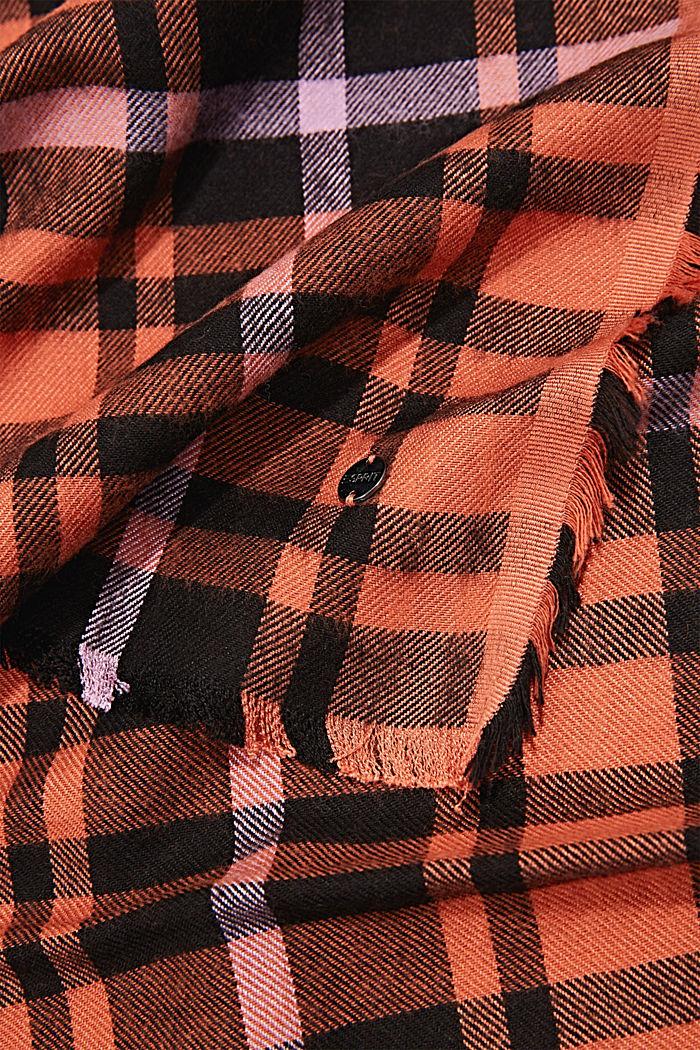 Geweven sjaal met ruitmotief, LENZING™ ECOVERO™, TERRACOTTA, detail image number 2