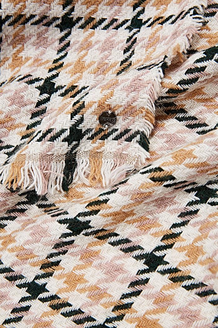 Mit Wolle/Alpaka: Schal mit Hahnentrittmuster, OFF WHITE, detail image number 2
