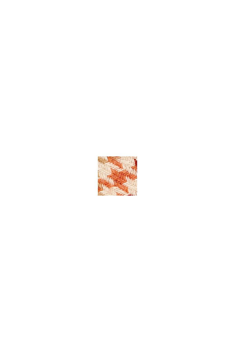 À teneur en laine/alpaga: écharpe à motif pied-de-poule, TERRACOTTA, swatch