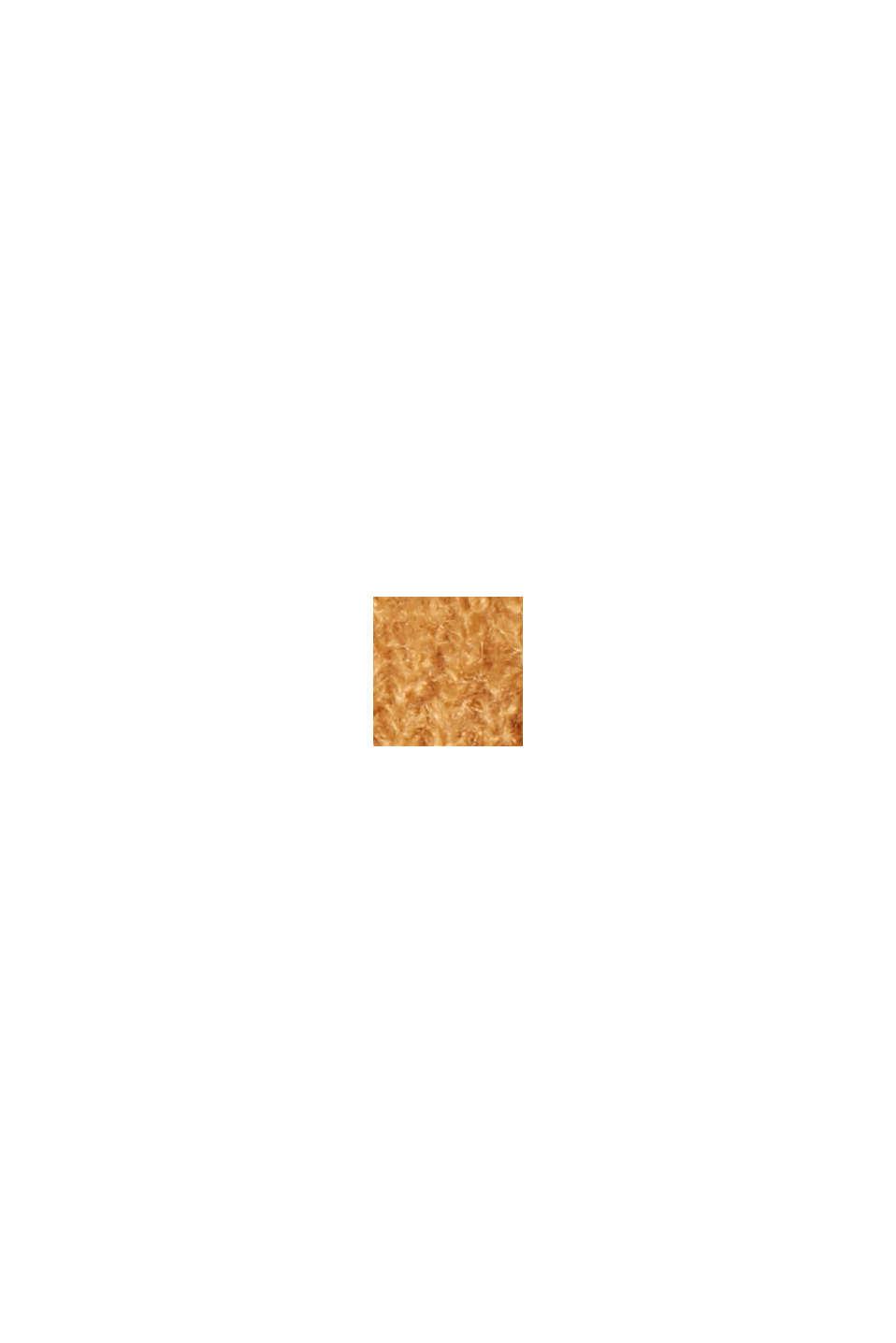Geruite poncho met houtje-touwtjesluiting, CARAMEL, swatch