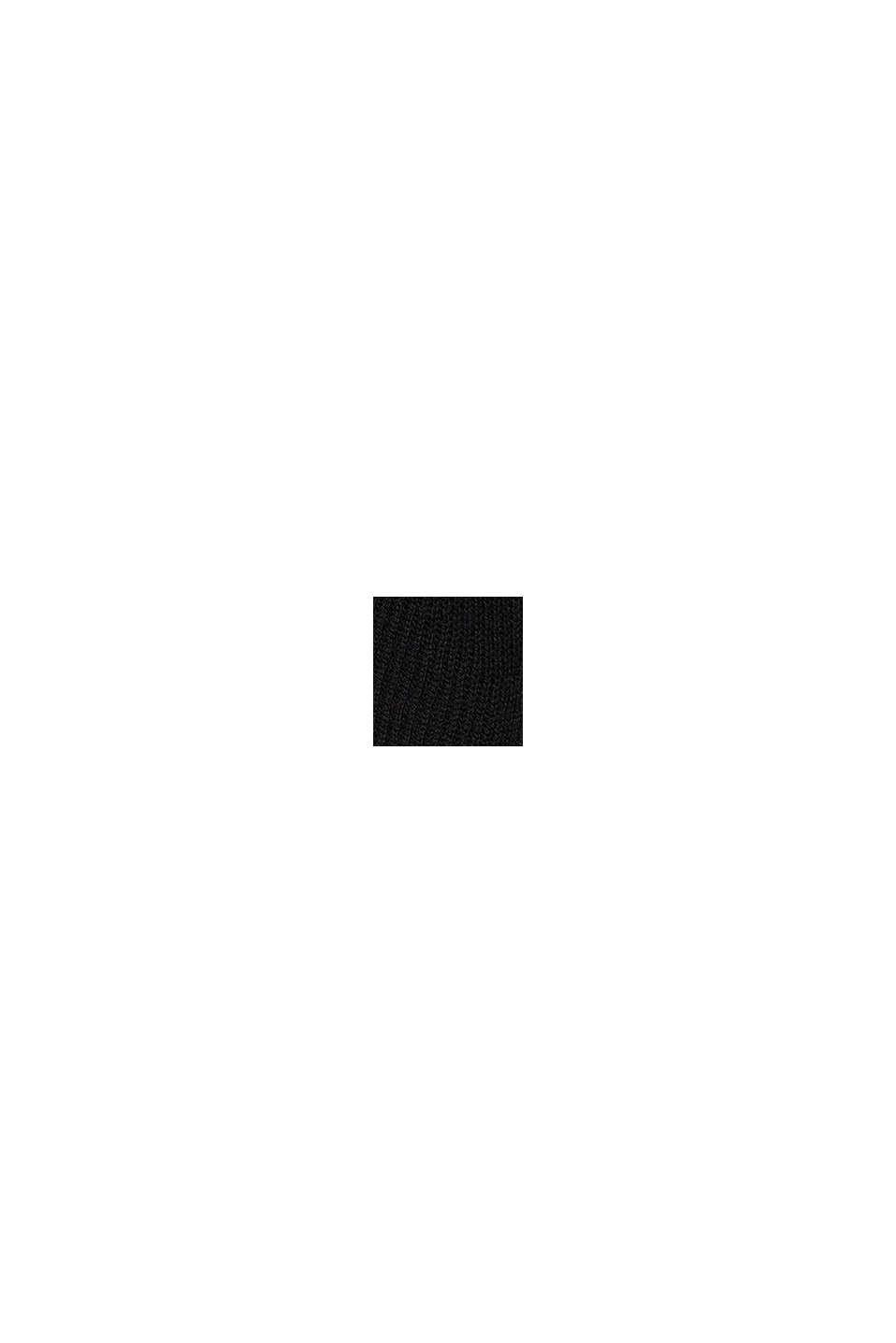 Responsible Wool: poncho met riem, BLACK, swatch