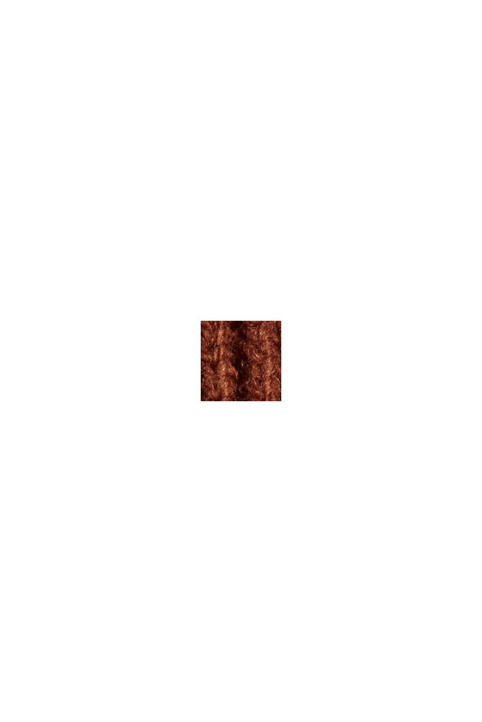 Responsible Wool: poncho met riem, RUST BROWN, swatch