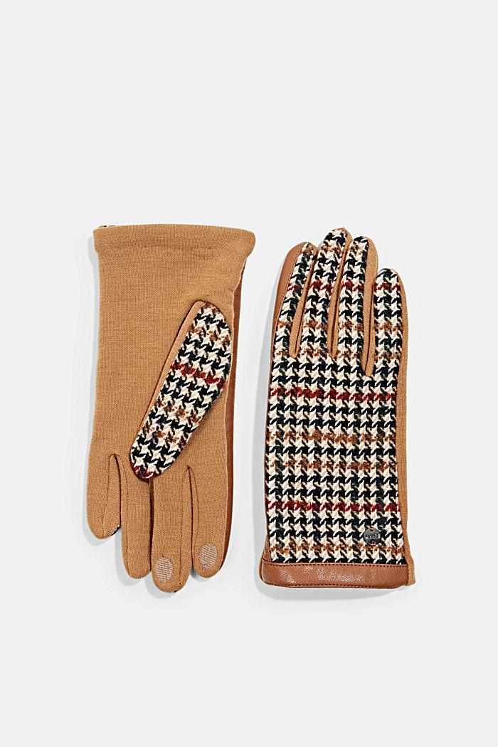 Gloves non-leather, CARAMEL, detail image number 0