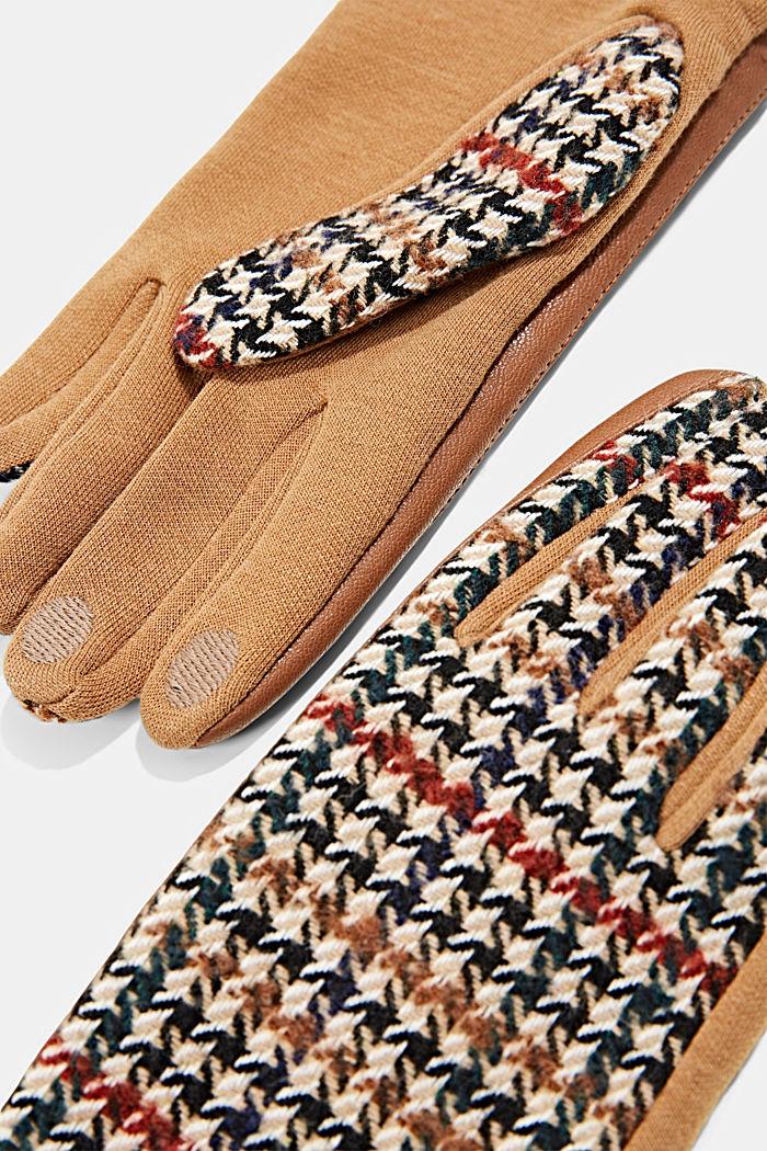 Gloves non-leather, CARAMEL, detail image number 1