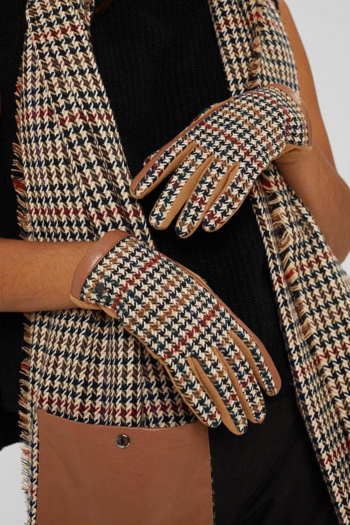 Gloves non-leather, CARAMEL, detail image number 2