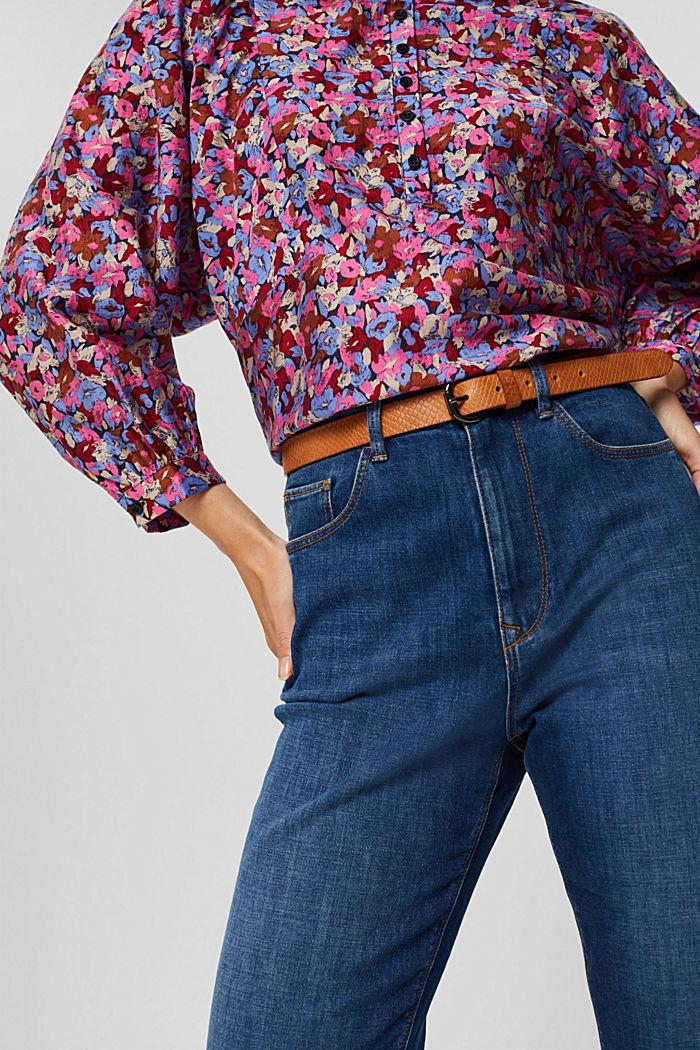 En cuir véritable: la ceinture fine