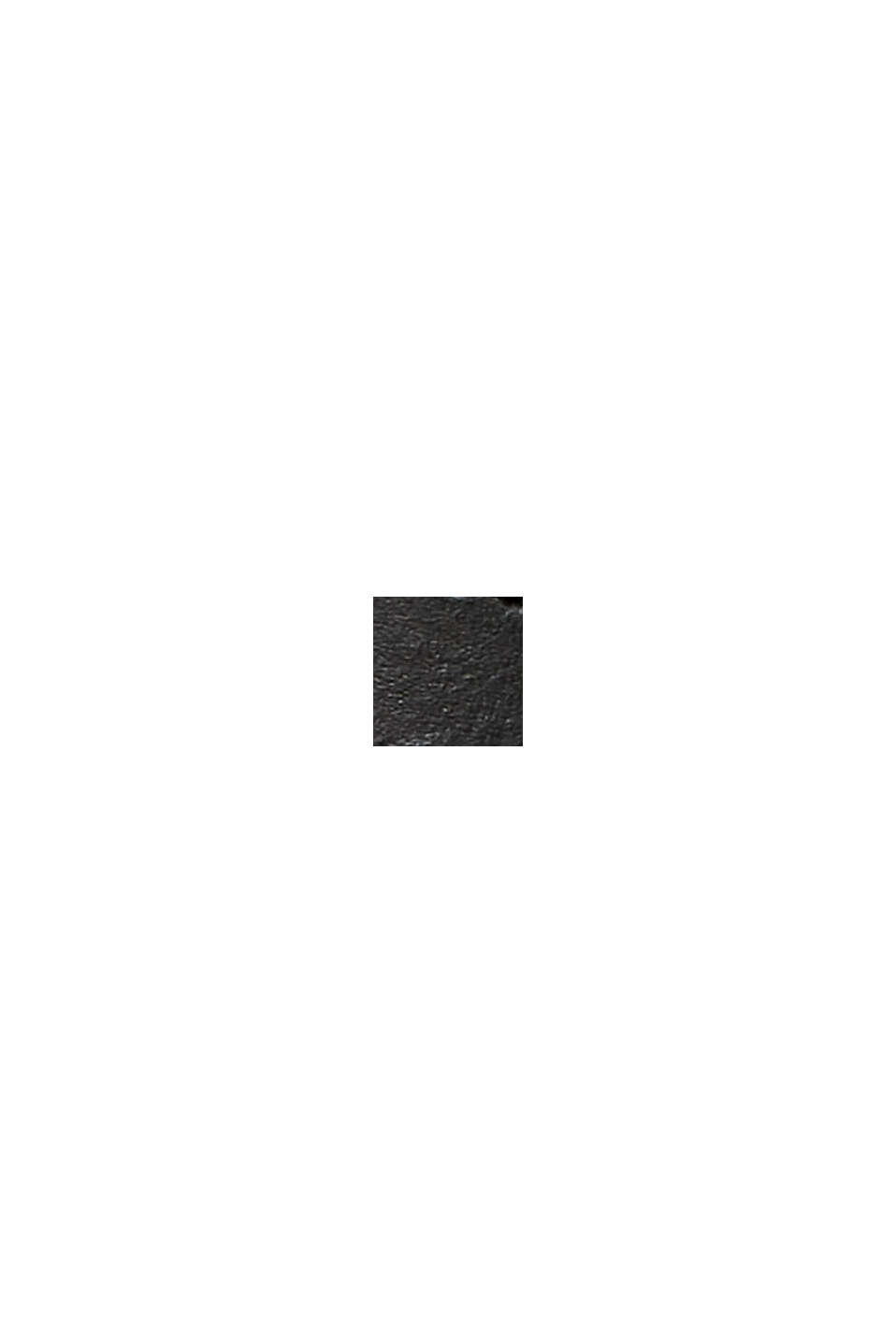 Cintura in pelle con passante decorativo, BLACK, swatch