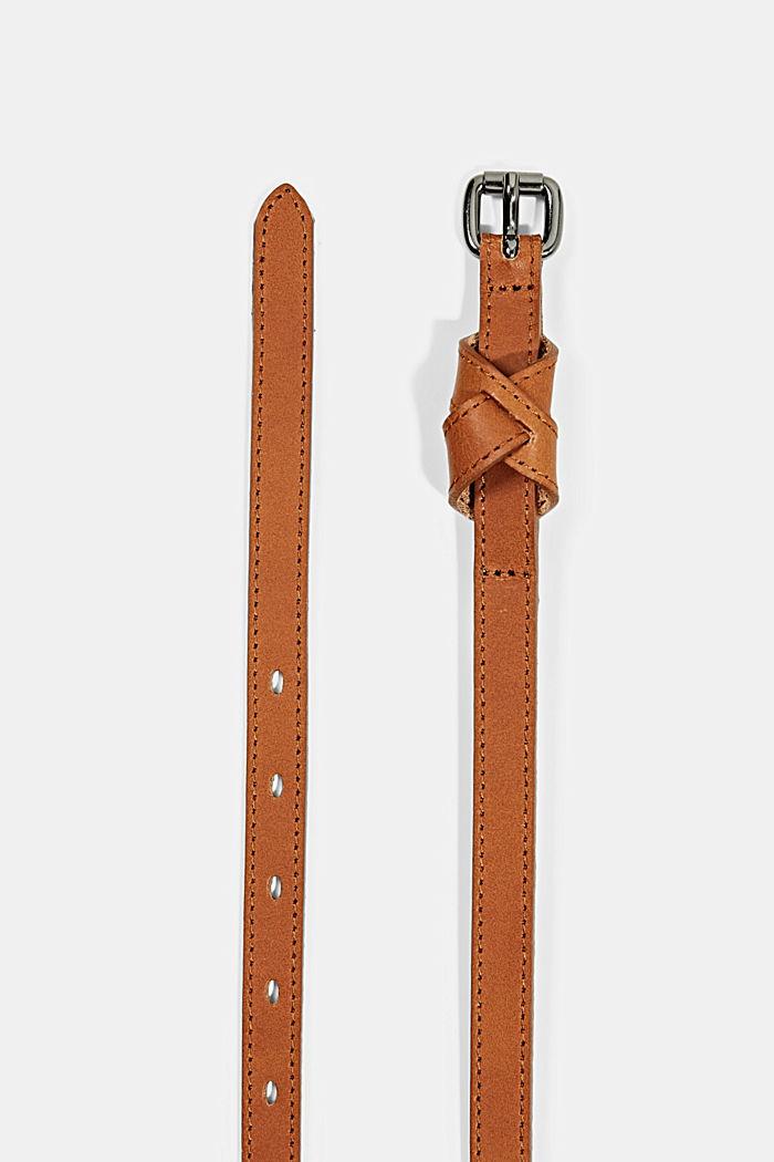 Ledergürtel mit dekorativer Schlaufe, RUST BROWN, detail image number 1