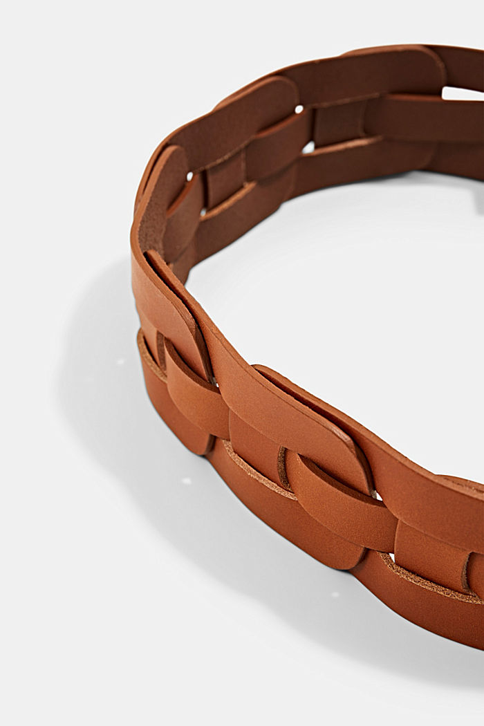 Belts leather, RUST BROWN, detail image number 3