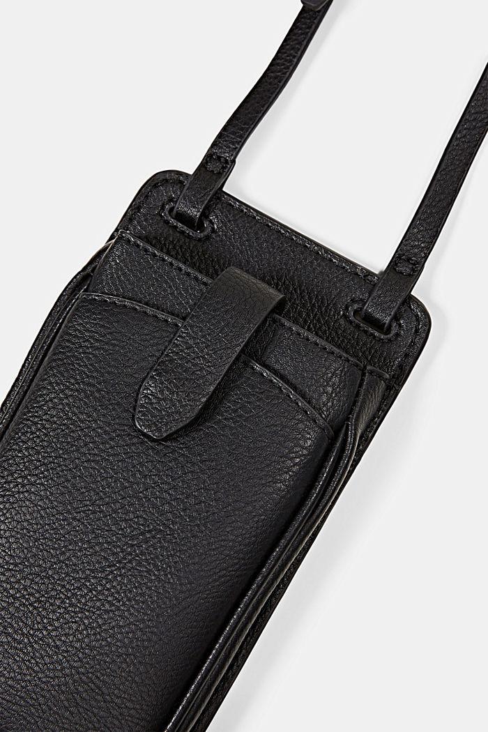 Vegan: Smartphone-Tasche, BLACK, detail image number 1