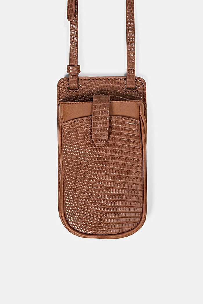 Vegan: Smartphone-Tasche, RUST BROWN, detail image number 0
