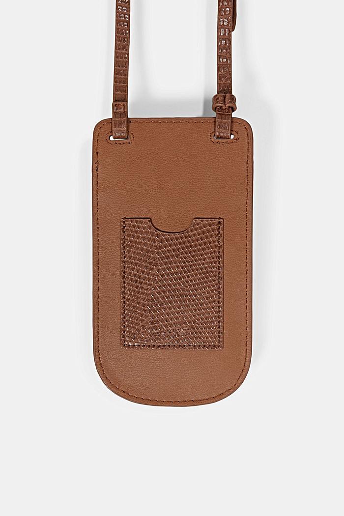Vegan: Smartphone-Tasche, RUST BROWN, detail image number 2