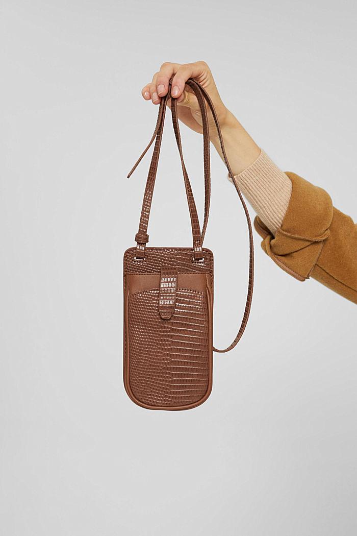 Vegan: Smartphone-Tasche, RUST BROWN, detail image number 4