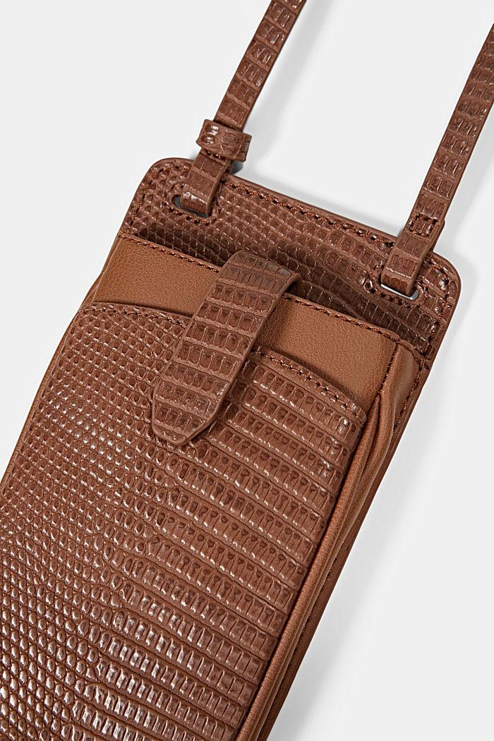 Vegan: Smartphone-Tasche, RUST BROWN, detail image number 1