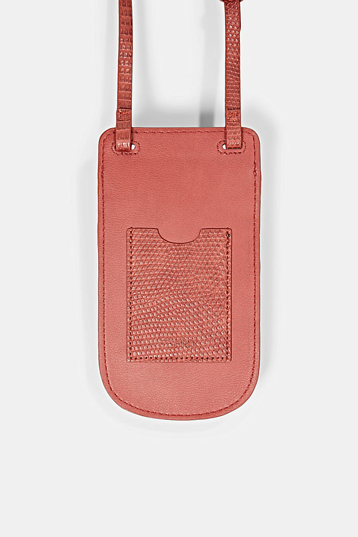 Vegan: Smartphone-Tasche, TERRACOTTA, detail image number 0