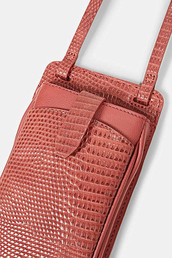 Vegan: Smartphone-Tasche, TERRACOTTA, detail image number 1