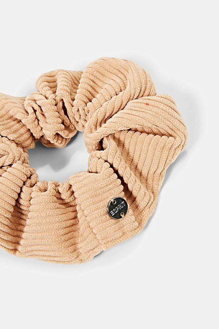 Scrunchie aus Cord, CARAMEL, detail image number 1