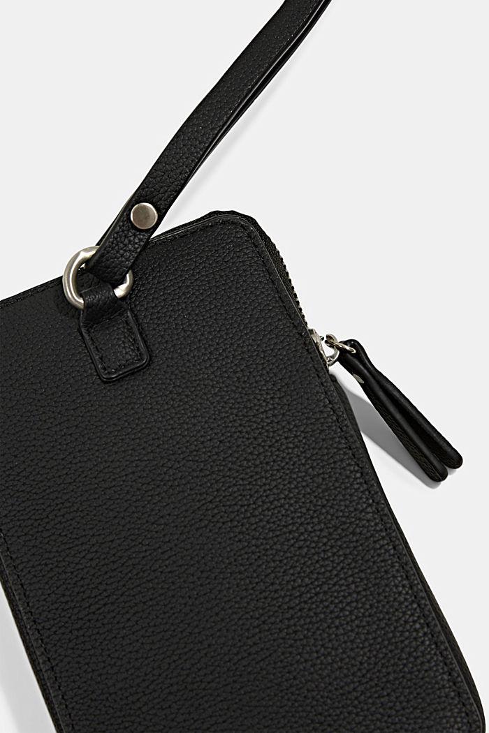 Phone Bag in Lederoptik, vegan, BLACK, detail image number 1