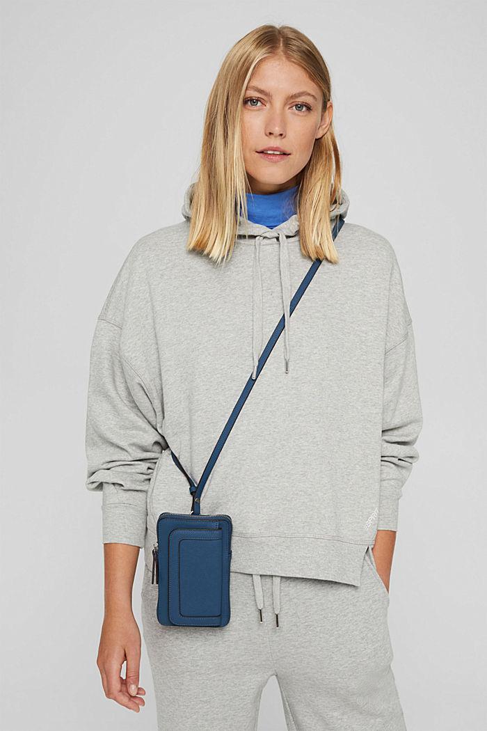 Phone Bag in Lederoptik, vegan, GREY BLUE, detail image number 4