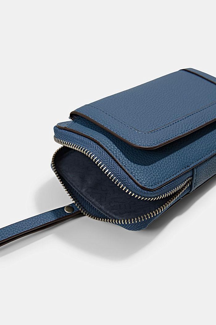 Phone Bag in Lederoptik, vegan, GREY BLUE, detail image number 2