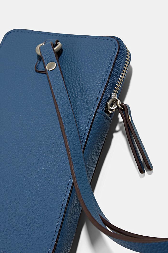 Phone Bag in Lederoptik, vegan, GREY BLUE, detail image number 1