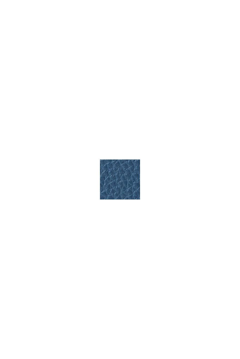Taštička na mobil z imitace kůže, veganský produkt, GREY BLUE, swatch